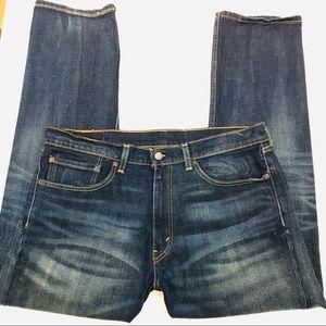 Levi's 505 Dark Wash Men's Jeans - 34/30